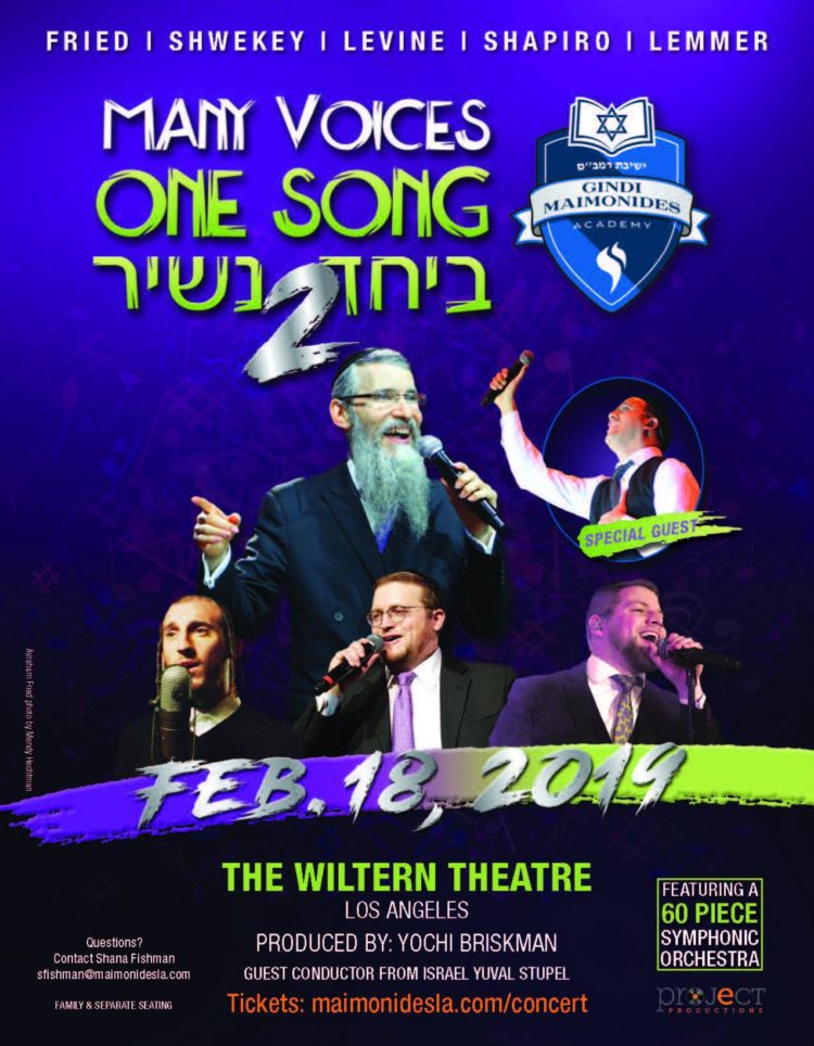 Mordechai Shapiro Wiltern Theatre Many Voices One Song